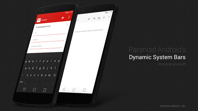 Paranoid Android Dynamic System Bars