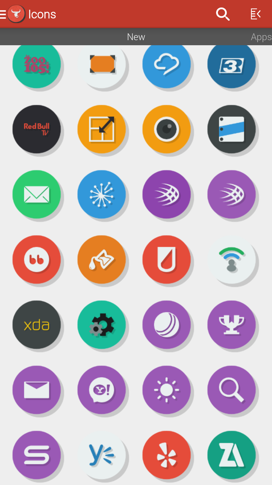 The homescreen for Empire CM11 showing off a Zooper clock from the Empire pack